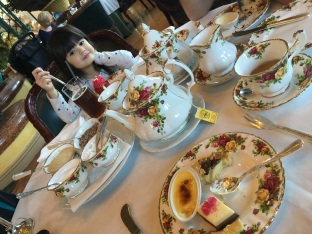 My little lady, well-behaved at high tea