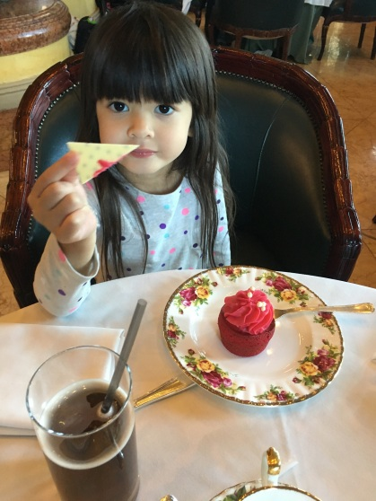 My little princess enjoying her high tea