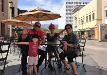 Family enjoying a beautiful day in Pasadena