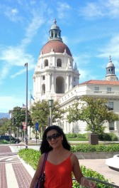 City Hall of Pasadena behind me as background