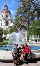 Paused and posed on our way to the Pasadena City Hall