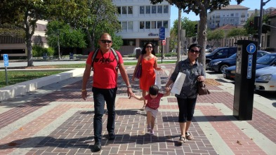Walking to the City Hall of Pasadena