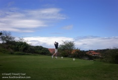 We played golf in Zimbali