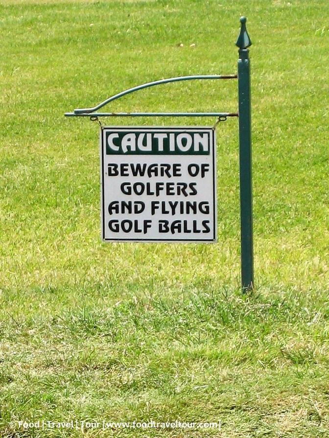 Beware of golfers