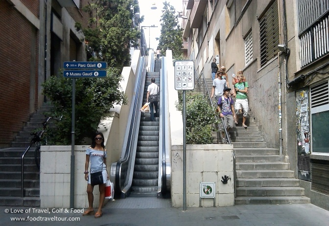 Outdoor escalator (Barcelona)